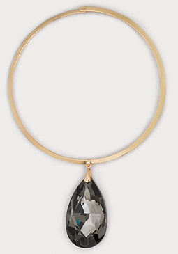 bebe Crystal Teardrop Necklace