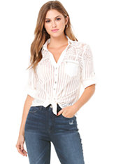 bebe Kaylee Lace Shirt