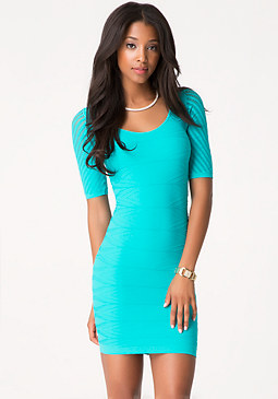 bebe Diamond Texture Dress
