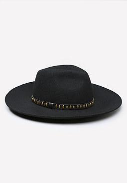 bebe Stud Trim Panama Hat