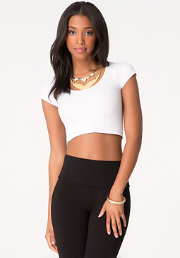 bebe Scoopneck Crop Top
