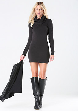 bebe Pointelle Sweater Dress