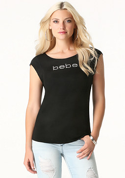 bebe Logo Twist Back Tee