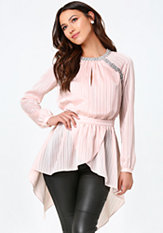 bebe Embellished Tunic