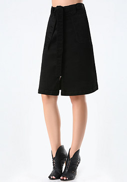 bebe Corduroy A-Line Skirt