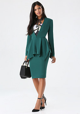 bebe Dramatic Peplum Jacket