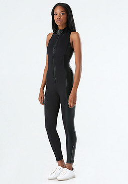bebe Tech Sleeveless Jumpsuit