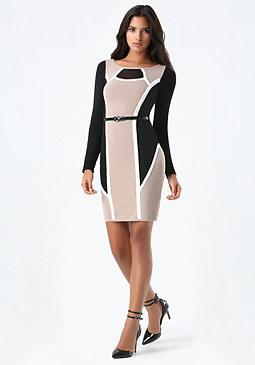 bebe Clarissa Colorblock Dress