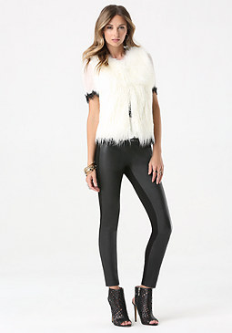 bebe Mix Faux Fur Vest