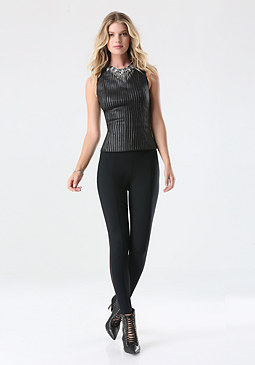 bebe Back Mesh Leggings