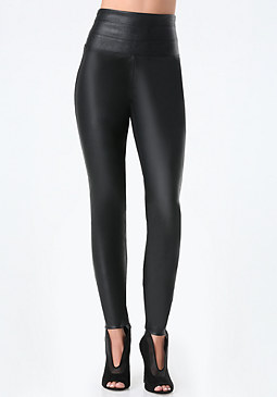 bebe Faux Leather Front Leggings