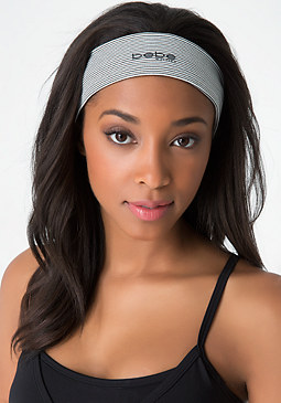 bebe Striped Hold-It Headband