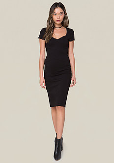 Lace Trim Ponte Dress