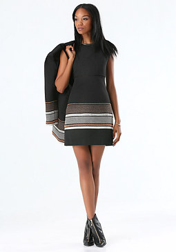 bebe Tina Jacquard Dress