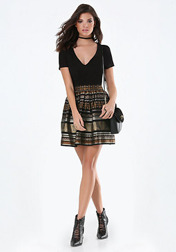 bebe Rilynne Jacquard Dress