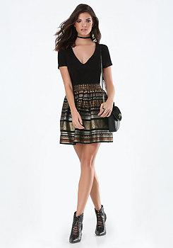 bebe Rilynne Jacquard Dress