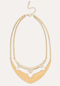 bebe Tiered Crystal Necklace