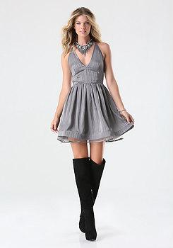 bebe Lace Back Dress