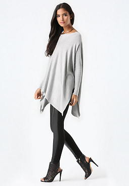 bebe Handkerchief Tunic Sweater