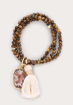 bebe Tiger Eye Stretch Bracelet