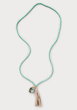 bebe Howlite Bead Necklace