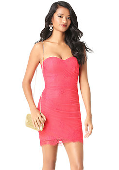bebe Lace Sweetheart Dress