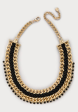 bebe Chunky Rope Chain Necklace
