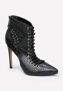 bebe Benetta Lug Sole Booties
