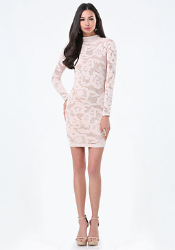 bebe Allover Lace Dress