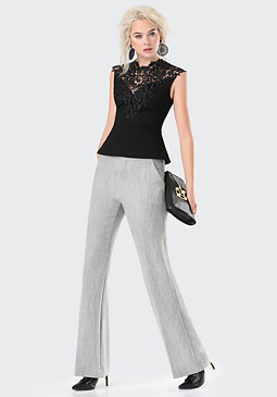 bebe Belinda Wide Leg Pants
