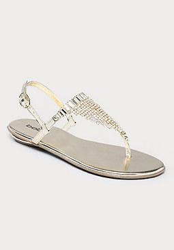 bebe Glimmer Flat Sandals