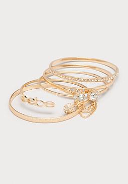 bebe Rhinestone Bracelet Set