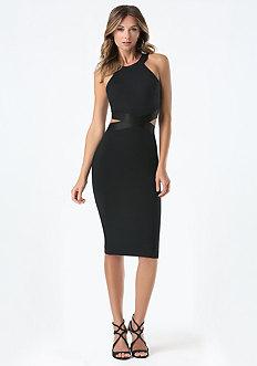 Cutout Waist Dress