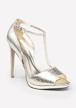 bebe Alyssa T-Strap Sandals