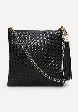 bebe Diana Woven Crossbody Bag