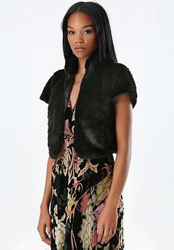 bebe Jenna Faux Fur Vest