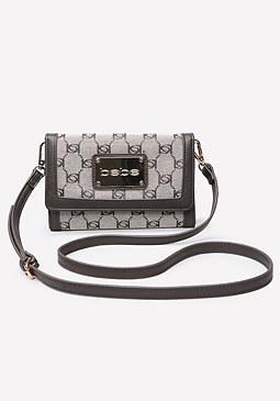 bebe Jacquard Crossbody Bag