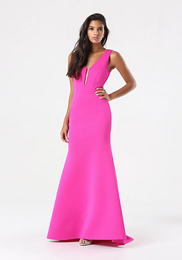 bebe Deep V Mermaid Gown