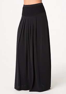 bebe Petite Pleated Maxi Skirt