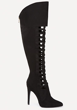 bebe Madeline Lace Up Boots