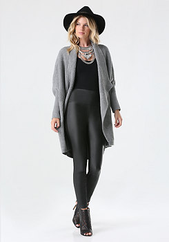 bebe Mitered Ribbed Sweater