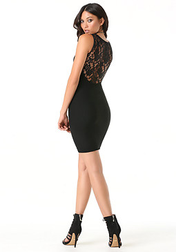 bebe Back Lace Dress