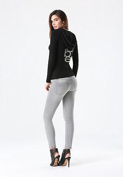 bebe Logo Hoodie Sweater
