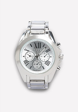 bebe Clean Bezel Boyfriend Watch