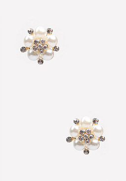 bebe Pearlescent Stud Earrings