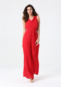 bebe Petite Pleated Leg Jumpsuit