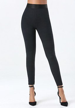bebe Petite Cross Ankle Leggings
