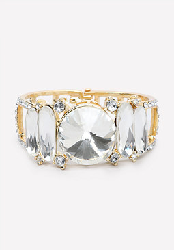 bebe Oversized Crystal Bracelet