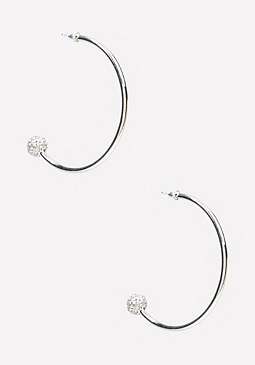 bebe Ball Open Hoop Earrings