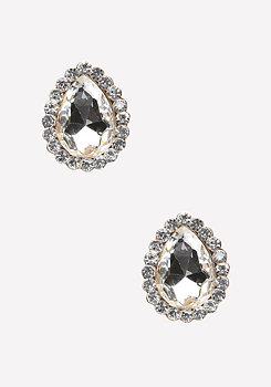bebe Crystal Drop Stud Earrings